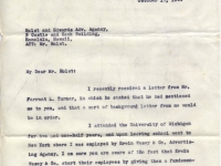 Turner letter, George (Bud) Faulder, 10/17/1944 (page 1)