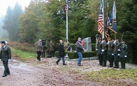 Reservists at 2010 memorial service in Bruyeres