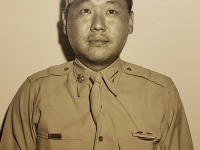 CPA-47-22 July 1947, Oahu, T.H. Major Nishiyoku [sic] Fukuda, who will command the 100th Battalion in the 442nd Infantry Regiment Reserve.