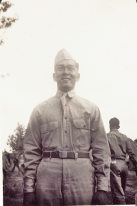 Joe Takata at Camp Shelby [Courtesy of William Takaezu]