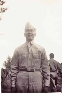 Joe Takata at Camp Shelby [Courtesy of William Takaezu]