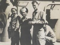 Tamotsu Curly kiyoshi, Bernard S. Akamine [Courtesy of Bernard Akamine]