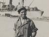 Kazuo Uyehara at waterfront in Leghorn, about to board ship [Courtesy of Bernard Akamine]