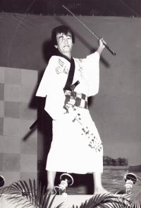 James Kawashima dresses as a samurai for a 100th Clubhouse fundraiser [Courtesy of Alexandra Nakamura]