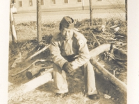 Ernest Enomoto at Camp McCoy, Wisconsin [Courtesy of Misao Enomoto]