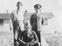 Top - L to R: Harry, Umihara bottom: Ogata. New Camp McCoy. [Courtesy of Bert Hamakado]