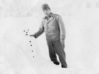 1st experience of snowman - new camp. [Courtesy of Bert Hamakado]