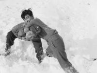 Matsu & Ogata wrestling. [Courtesy of Bert Hamakado]