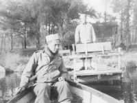 Boat riding with Koga & T. Higa at Lake Alder. [Courtesy of Bert Hamakado]