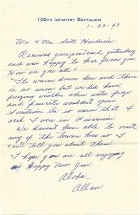 Allan-Ohata-01-23-1943-Letter