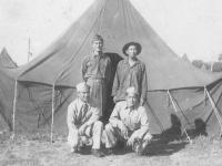 Camp McCoy, Top: Kenneth Higa, Taira, Bottom: Takao Kubota, Taichi Higashi [Courtesy of Kenneth Higa]