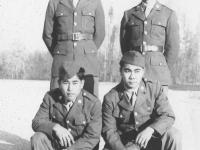 Top:  Sakuji Amano, Kenneth Higa, Bottom: James Chibana Higa, Ronald Hamamura [Courtesy of Kenneth Higa]