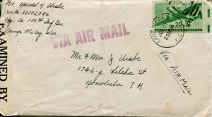 July 21, 1942 Envelope