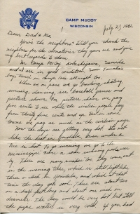 July 21, 1942 Letter Page 1