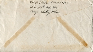 July 27, 1943 Envelope back