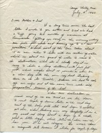 July 4, 1943 Letter Page 1