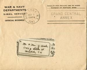 Oct 6, 1943 Envelope