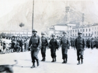 1945 Parade In Lecco 100th Bn. Staff (Courtesy of Dorothy Inouye)