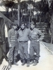 Oct 1945 At Livorno Italy.  In front of Mana's house.  Went loafing with Mellow, Himeo Iwata, Manabu Akage.  (Courtesy of Dorothy Inouye)