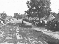 Camp McCoy, Wisconsin- before barracks were built. [Courtesy of Dorothy Ibaraki]