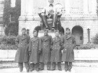 At U of Wisconsin. (center) Tom Ibaraki. [Courtesy of Dorothy Ibaraki]