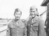 Oversize polly and me- McCoy, Sta. Polly (Yutaka Kawasaki relative?), ( R) Tom Ibaraki. [Courtesy of Dorothy Ibaraki]