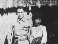 George T. Inouye.  Dad and Mom Honeymoon Feb. 1945 [Courtesy of Jan Sakoda]