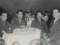 Sgt. Shigeru Inouye with fellow hospital patients at Bal Tabarin Club, San Francisco, Nov. 12, 1944. (Courtesy of Clinton K. Inouye)