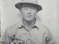 Shigeru Inouye at Schofield Barracks, Hawaii, April 1942. (Courtesy of Clinton K. Inouye)