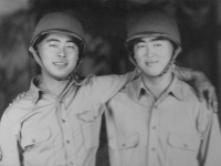 Shigeru Inouye and Walter Wataru Inouye taken in the 1945 time fram when they were training for their WWII deployments.
