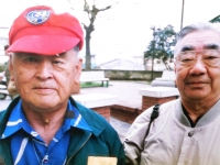 Shigeru Inouye and one of his best friends and former comrade Sakae Takahashi. [Courtesy of Clinton K. Inouye]