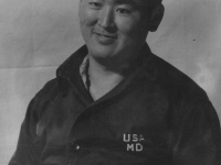 Shigeru Inouye at McCornack General Hospital. [Courtesy of Clinton K. Inouye]