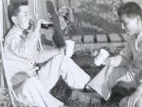 Co. B at Camp McCoy [Courtesy of James Nogawa]