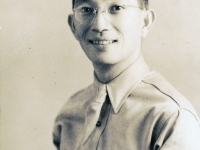 (November 1941) Masanobu Eugene Kawakami (age 28) in uniform.  [Courtesy of Joanne Kai]