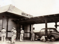(July 03, 1942) Camp McCoy train station.  [Courtesy of Joanne Kai]