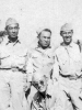 "(July 20, 1942) ""Cpl. Walter Moriguchi, Pfc. Tanoue, Cpl. Yozo Yamamoto, & Sgt. Kawakami"". Eugene Kawakami is crouched in the front.   [Courtesy of Joanne Kai]"