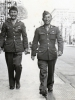"(March 21, 1943) ""Sgt. Yoshiura & I – Walking North on Canal Street, New Orleans."" Eugene Kawakami is on the right.  [Courtesy of Joanne Kai]"