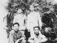 Public bath reading from left to right. Miyamoto, Seiji, Minagawa, Yonenaka, Matsuda. [Courtesy of Elaine Kishinami Tadaki]