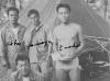 Left to right: Koba, Mori, Enoki and Oda  in Kahana. [Courtesy of Elaine Kishinami Tadaki]