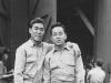 Gold Brick Kimura & Asuka - Camp Shelby - Company party, 1943. [Courtesy of Elaine Kishinami Tadaki]