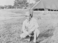K. Yoshioka, Camp McCoy, Wis, 8/14/42.  [Courtesy of Ruth Kunishige]