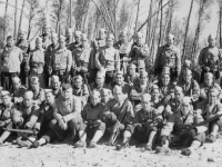 Co. E. 3rd Platoon w/ Dillard Capt. Willis Camp McCoy.  [Courtesy of Ruth Kunishige]