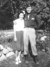 Toshiko and Mits in Milwaukee, September 1944 [Courtesy of David Fukuda]