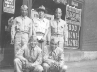 Kane, Jiro, Goro, Masayoshi Miyagi and Joe. Taken July, 1943 Chicago. [Courtesy of Leslie Taniyama]