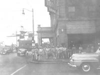 Sept 1, 1942, The gang in front of Hotel Benuru & Greu Bar. [Courtesy of Leslie Taniyama]