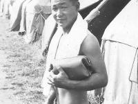 Taken in Camp McCoy July, 1942. [Courtesy of Leslie Taniyama]