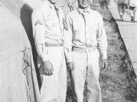 Taken in Camp McCoy July, 1945. Taken in Camp July 6, 1942. Joe Takata and Masayoshi Miyagi. [Courtesy of Leslie Taniyama]