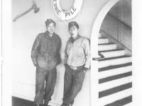 Moriso Teraoka and George Eiji on a ferry ship in California en route to San Francisco (Courtesy of Moriso Teraoka)
