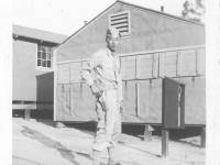 """Moriso """"Legs"""" Teraoka at Camp Shelby, Mississippi, 1944 (Courtesy of Moriso Teraoka)"""