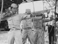 Taken August 9, 1942 at Wisconsin Dells Park. Hit Bullseye-not bad.  [Courtesy of Jan Nadamoto]